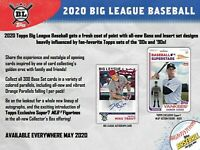 2020 Topps Big League Baseball Hobby Box