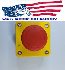 New Red Sign Mushroom Emergency Stop Push Button Switch Station 1 NC