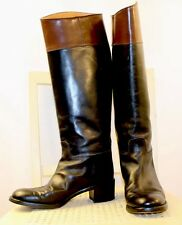 RALPH LAUREN Collection Leather Equestrian English Riding Boots 6.5B ITALY Rare!