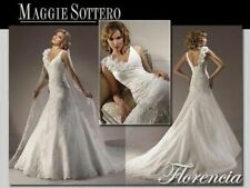 MAGGIE SOTTERO 💕 $1999 FLORENCIA 12 V-NECK FIT FLARE LACE FLORAL WEDDING DRESS