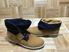 TIMBERLAND ROLL TOP DENIM WHEAT LEATHER WOMEN'S BOOTS NEW IN BOX 11 #54374