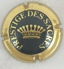 capsule champagne PRESTIGE DES SACRES n°4 noir et or brillant