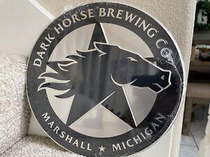 "Dark Horse BREWING Craft BEER Sign Tin Metal Tacker 12"" Marshall Michigan NEW"