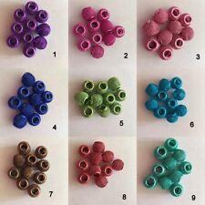 10 Mesh work aluminium Snake Bracelet Charm Spacer Beads (Choose colour) 10mm