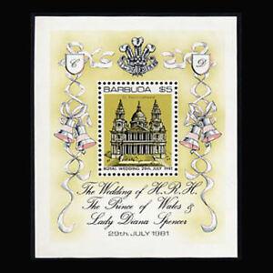 Barbuda, Sc #496, MNH, 1981, S/S, Royal Wedding, St Paul's Cathedral, FAI-B