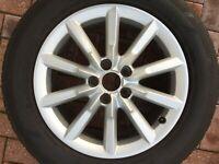 """AUDI Q3 SUV 17"""" RONAL ALLOY WHEEL & TYRE 8U0601025S 7.0Jx17 ET43 OEM PART #4"""