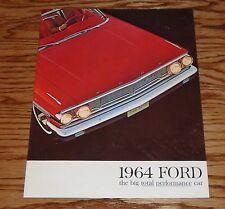 Original 1964 Ford Big Total Performance Car Sales Brochure 64 Galaxie