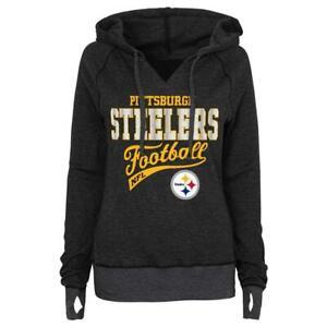 Pittsburgh Steelers NFL Teen Girls Thermal Pullover Hoodie, Large (11/13) - NWT