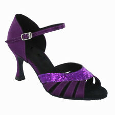 Ladies Latin Ballroom Dance Shoes SHADES OF PURPLE