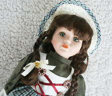 CHINESE PORCELAIN DOLL (MUÑECA PORCELANA) HAND CRAFTED & PAINTED 30cm BRAND NEW