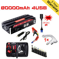 80000mAh Portable Car Jump Starter Pack Booster Battery Charger Power Bank US ED