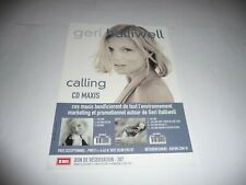 """Geri Halliwell (of the Spice Girls) - 1 Page French Promo Leaflet for """"Calling""""."""