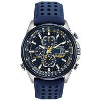 Citizen Eco-Drive Blue Angels Men's Chronograph Blue Strap 42mm Watch AT8020-03L
