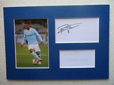 Manchester City Raheem Sterling Hand Signed A4 Mounted Card & Photo Display- Coa