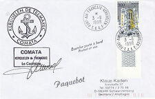 FRENCH PATROL BOAT FS COMATA A CAPTAIN SIGNED SHIPS CACHED COVER