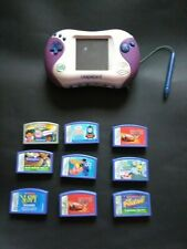 LeapFrog Leapster 2 Hand Held Learning System & 9 Game Cartridges TESTED