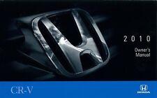 2010 Honda CR-V CRV Owners Manual User Guide
