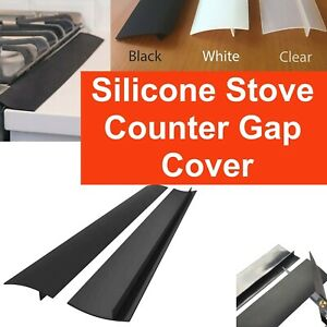 Silicone Kitchen Stove Counter Gap Cover Oven Guard Spill Protector Filler Strip