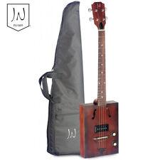 J.N Guitars CASK-HOGSHEAD Acoustic Electric Cigar Box 4 String Guitar w/ Gig Bag