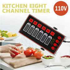 6 Channels Commercial Kitchen Timers Restaurant Timer Loud Alarm Cooking 110V