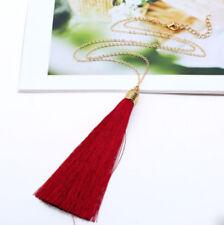 BOHO Tassel Necklace Long Chain Pendant Disc Women Fashion Look Best Gift Style