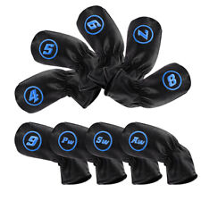 9PCS 4#-SW Golf Iron Covers Headcovers For Cobra Taylormade Callaway USA Ship