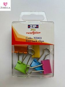 Bulldog Clips, Fold Back Clips, Bright Colours 19mm, VARIOUS ITEMS MULTI BUY
