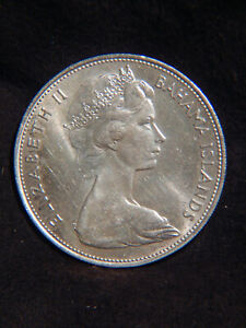 Bahamas 1969 $5 STERLING SILVER Coin 925/1000 Beautiful & Big Stack Or Collect B
