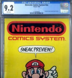 PRIMO:  NINTENDO Comics System Sneak Preview nn NM- 9.2 CGC rare Valiant comics