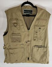 Field & Stream Fishing/Hiking Vest Mesh Lined Vented Large Tan/Khaki