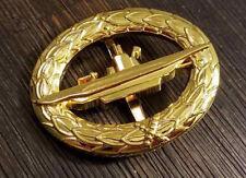 WW2 WWII German 1957 U boat badge veterans pin Gold plated Germany