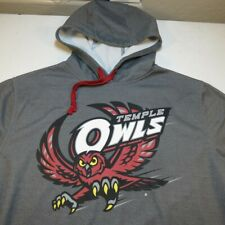 '47 TEMPLE UNIVERSITY COLLEGE OWLS HOODIE HOODED SWEATSHIRT Sz Mens L Fanatics