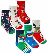 Boys Girls Christmas Socks 3 Pairs Set Xmas Cotton Ankle Socks New Kids 3 Pack
