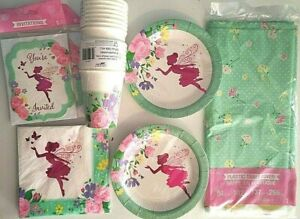 FLORAL FAIRY SPARKLE - CEG Birthday Party Supply Set Pack Kit for 16 w/Invites