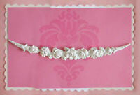 BEST Shabby Cottage Chic Long ROSE Miniature Applique of Vintage Style