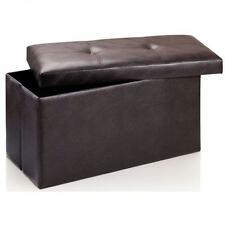 Faux Leather Unbranded Ottomans Footstools