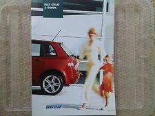 FIAT Stilo 5-Door Brochure 2002