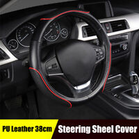 High Quality PU Leather  Steering Wheel Cover Anti-slip M Size Car SUV Universal
