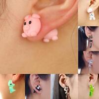1 Paar Lustige Nette Handgemachte Weiche Ohrringe Schwein Ohrstecker Ohrring Par