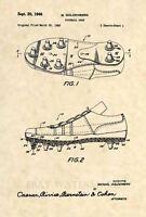 Official Football Cleat Patent Art Print - Vintage Antique NFL Original 442