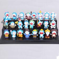24 Pcs Doraemon Cat-Like Robot Anime Action Figure Cute Doll Cake Topper Toy Us