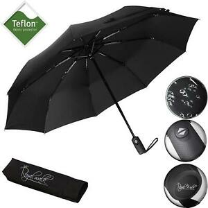 Royal Walk Umbrella Windproof Double Vented Travel Umbrella with Teflon 102cm