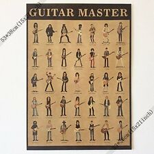 Guitar Master Vintage Home Wall Decoration Poster 21x15Inch(53*38cm)paper Poster