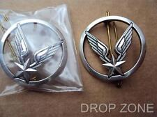Pair of ALAT French Light Aviation Army Military Beret Badges by Coinderoux