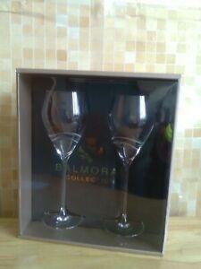Diamante Balmoral Collection Wine Glasses X 2, Unused, Boxed