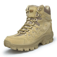 Men's Khaki Quality Military Boots Desert Army Hiking Shoes SWAT Police Outdoor