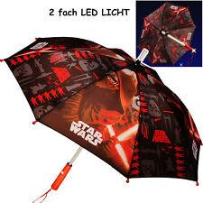 Kinderschirm / Regenschirm _ LED Licht farbwechsel + Taschenlampe _ Star Wars -