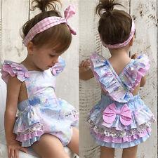 USA Floral Newborn Baby Girl Bodysuit Romper Jumpsuit Outfit Sunsuit 18-24M 01