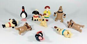 Wallace and Gromit Mini Figures Aardman Vintage Pencil end Toppers Vintage 1989