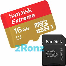 SanDisk Extreme 80MB/s 16GB 16G Micro SDHC Flash Card TF Class 10 UHS-I U1